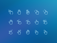 Gestures Icons hands ui elements icons gestures