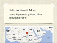 ipad app UI for charity