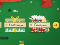 Gift selector tool UI