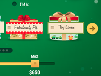 Gift icons for gift selector