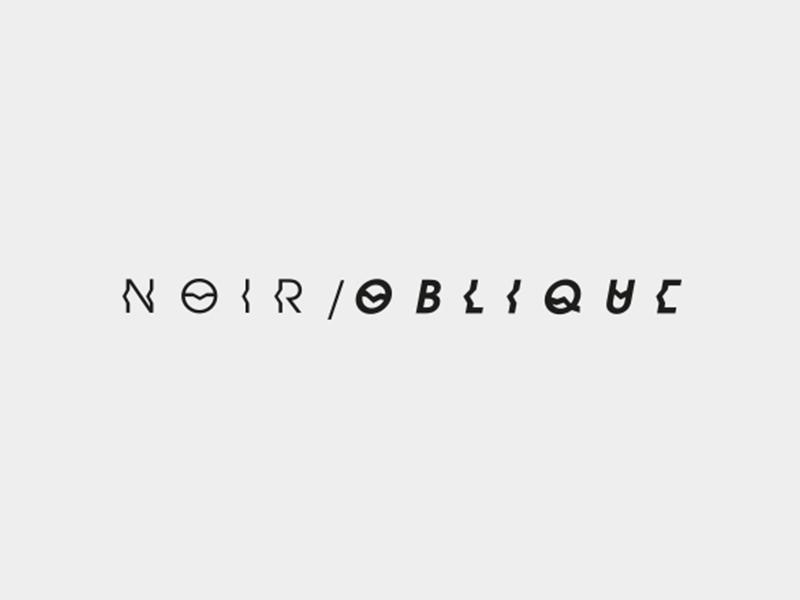 Noir / oblique white black minimal clean logodesign logo