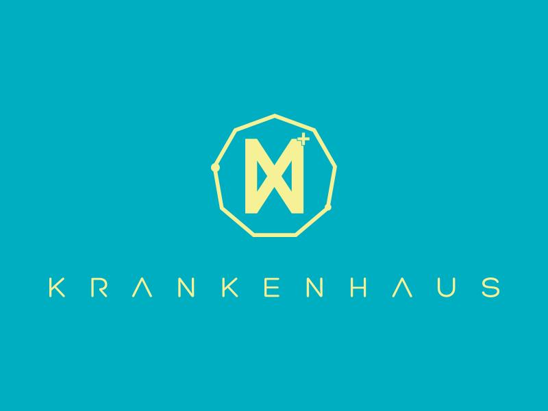 Krankenhaus logo events yellow logodesign party openair krankenhaus