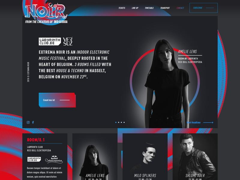 Extrema Noir website webdesign