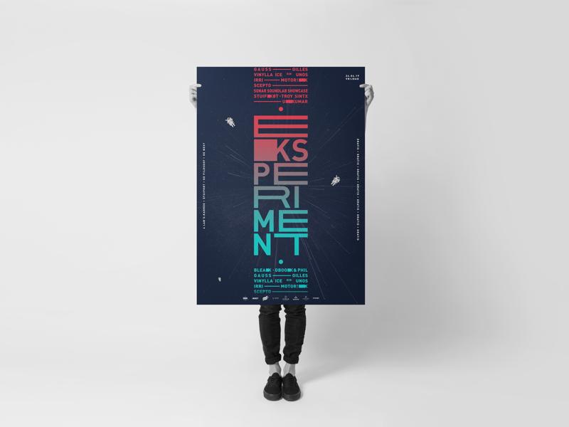 Eksperiment poster - logo logodesign posterdesign