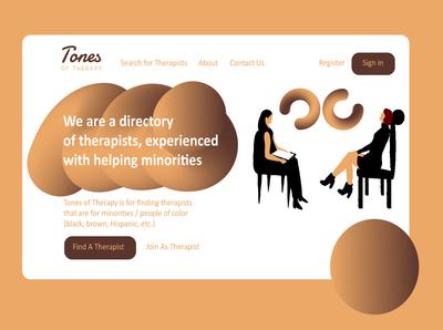 Tones of Therapy webdesign web artdirectors inspiration editorial dribbblers illustration dribbble