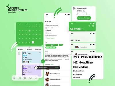 Chronos Design System by shyftplan components product design calendar ui green design system calendar ui ux
