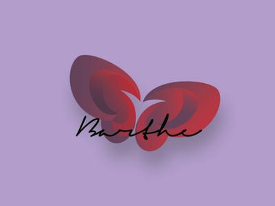 Logotype butterfly logotype logo papillon