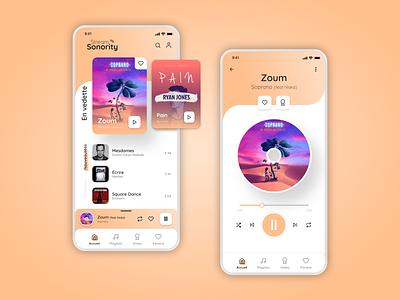 Music management and listening application 🎧 uidesign ui uxdesign ux mobile design mobile designer design app adobe xd