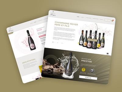 Champagne Royer designer uidesign interface uxdesign branding ux ui adobe xd app luxury champagne design