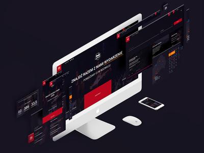 Ochotnicze Hufce Pracy Redesign interface user web blog offer work landing redesign website ohp