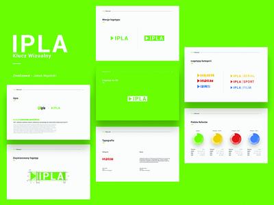 IPLA - ATM Group - Visual Key Redesign branding logotype redesign visual key tv polsat atm ipla