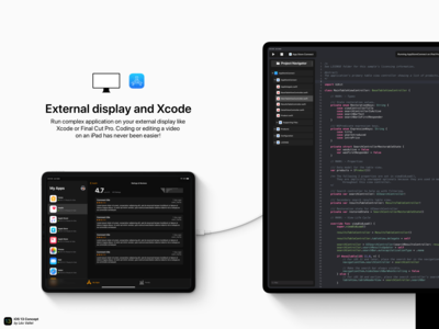 iOS 13 Concept - External display and Xcode