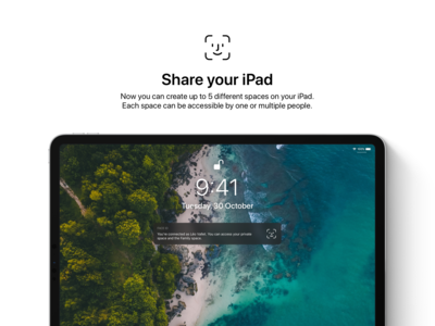 iOS 13 Concept - Share your iPad