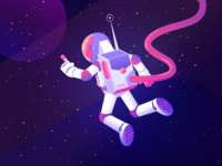 Floating Space Man