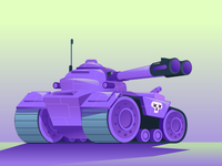 Purple battle tank