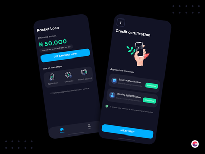 Rocket Loan  App app ux finance app finance mobile app design customer loan dark mode loan ui ios