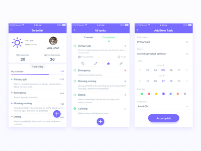 Daily Ui-Day#03 (2) edit choose weather ui task schedule lists interface date