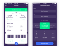 Daily Ui-Day#13  Boarding Pass