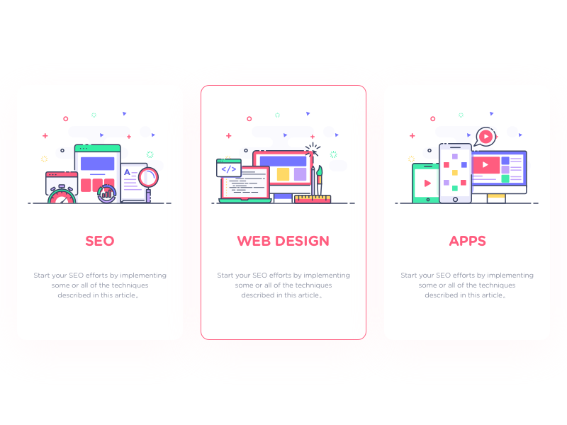 Cards#01/12 iphone computer line-concept ui app design web seo