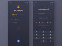 Poker-Sign in/Reset passward