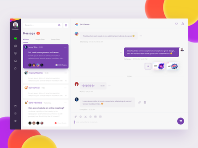 Chat Dashboard-Web App atmosphere office mac platform web profile messages inbox dashboard chat