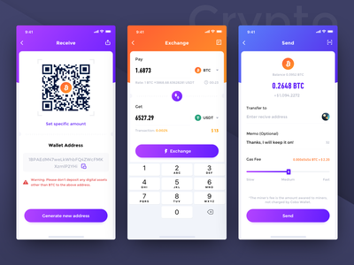 Crypto Wallet Exploration-02 crypto wallet app design assets btc transactions app ui ios interface
