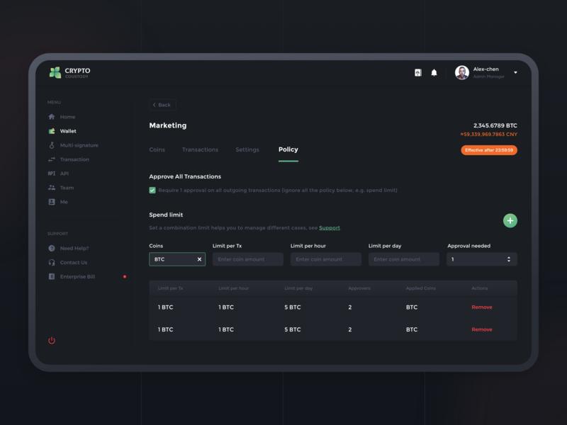 Crypto Custody 2 design dashboad crypto sketch services assets interface ui