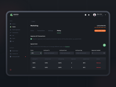 Crypto Custody 2 design dashboad crypto sketch services assets interface ui