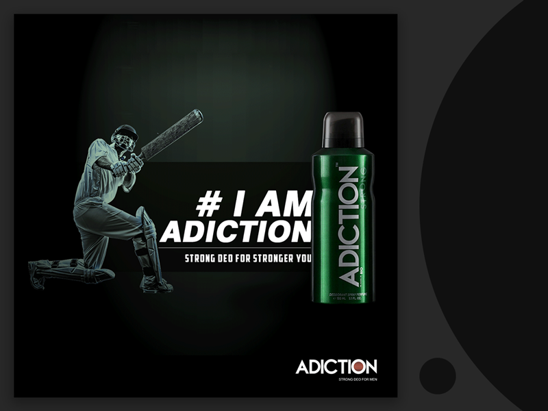 Adiction Deodorant Ad Campaign lifestyle brand inspirational deodorant passion concept art direction ad campaign branding