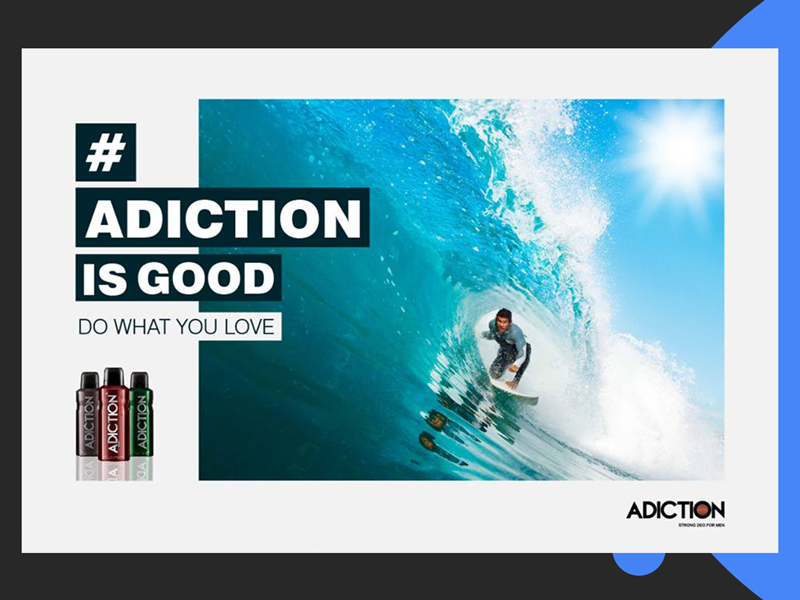 Adiction Campaign 2 mankind lifestyle brand lifestyle passion inspirational deodorant design concept ad campaign art direction branding