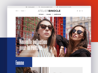 Atelier Binocle website ecommerce design ecommerce app ecommerce shop ecommerce glasses app concept website web design ux ui
