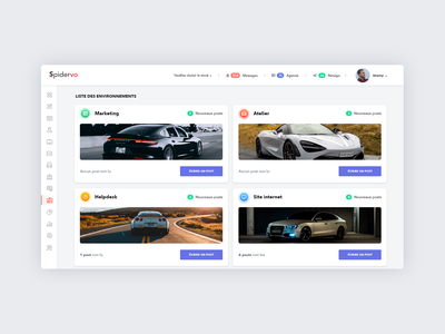 Spider VO dashboard app dashboard uiuxdesign uiux automobile car typography uidesign app app concept website web ux design ui