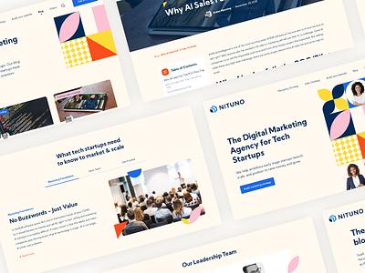 Landing page - Digital Marketing Agency tech startup marketing agency marketing site marketing digital uidesign website web ux design ui