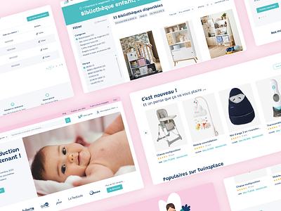 E-commerce - Child furniture children child e-commerce shop e-commerce e-commerce app furniture baby clothes baby shower baby uiux uidesign website web ux design ui
