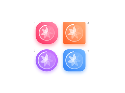 Breath Ball App lotus relaxation ios icon android icon app icon meditation