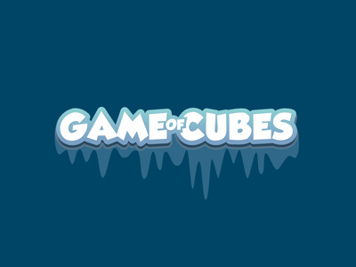 Game of Cubes UI Christmas Title board game puzzle app ui game design mobile game game interface ui game ui