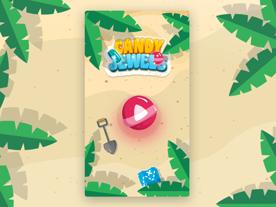 Candy Jewels Main Screen board game puzzle app ui game design mobile game game interface ui game ui