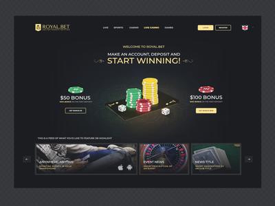 Royal.bet Webpage
