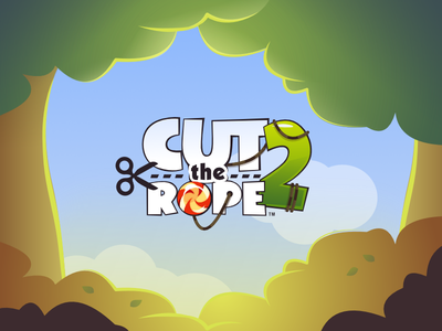 Cut The Rope mobile game title zeptolab logo game logo mobile game game design game title om nom cut the rope 2 cut the rope