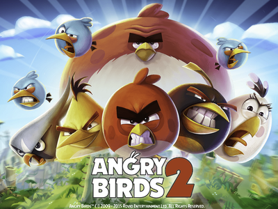 Angry Birds game design game title game logo angry birds 2 angry birds