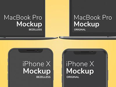 iPhone X MacBook Pro Mockup Bezelless iphone mockups iphone x product mockup web mockup app mockup macbook pro macbook mockup bezelless mockup iphone mockup iphone x mockup