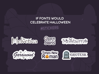 If Fonts Would Celebrate Halloween #2