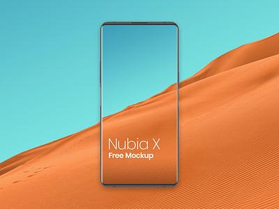 Nubia X Mockup Free bezelless phone mockup nubia mockup nubia x mockup free nubia x mockup nubia x