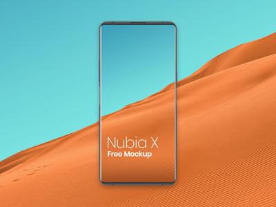 Nubia X Mockup Free