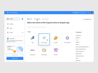 Buddy Playoff: Actions UI web development website design panel dashboard ui ui app app ui