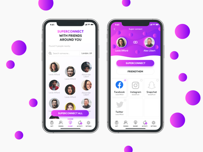 Friendthem App Design mobile app design ui design ui  ux app design