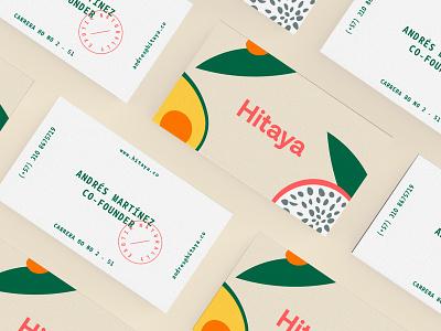 Hitaya Cards hitaya brandidentity carddesign fruits branding card