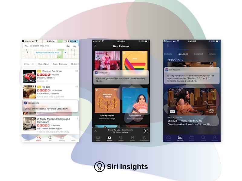 Siri Insights gestures ux ios