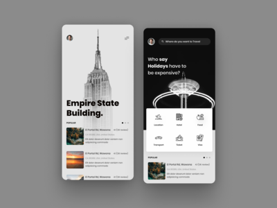 Travel Guide App UI
