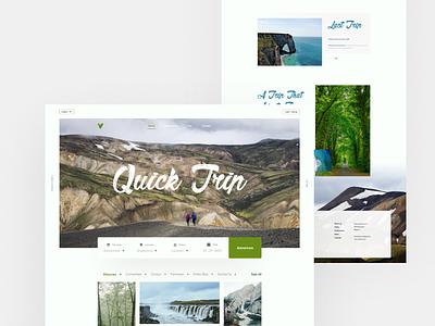Quick Trip apple google app popular tourism tour vector experiment concept typography design colour minimal creative ux ui